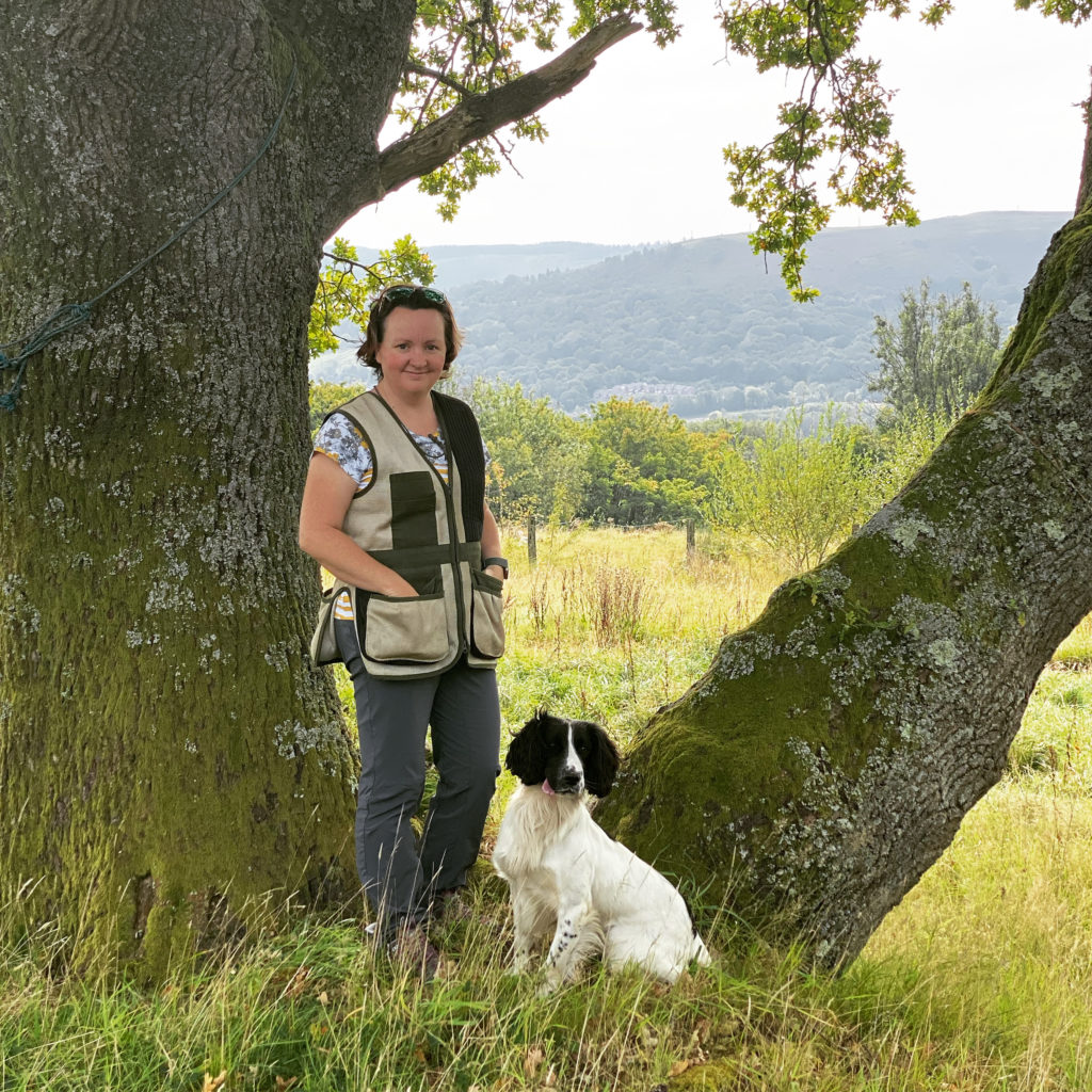 jo perrott ladies working dog group and her dog buddy