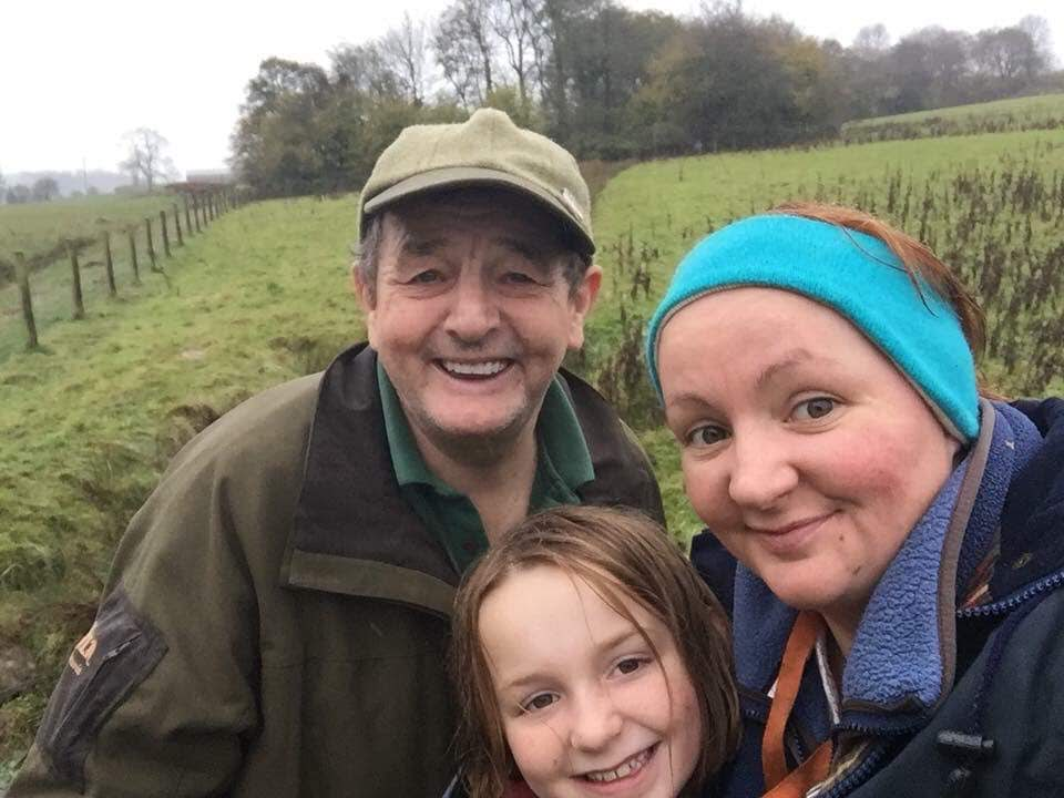 jo perrott ladies working dog group and her family